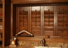 decorating wonderful wooden sunburst shutters with wooden blinds