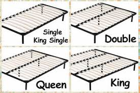Slatted Bed Base Queen New Single Double Queen King Metal Bed Base Bed Frame W Timber