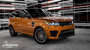 orange range rover sport 2017 land rover range rover sport svr by svo