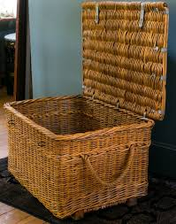 vintage european wicker basket with lid and clasp for sale at 1stdibs