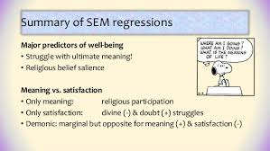 predicting meaning and satisfaction with religious spiritual s