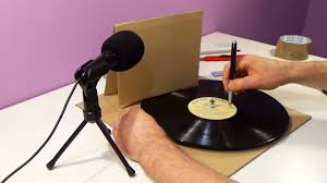 Record by Diy Cardboard Record Player Turntable Gramophone Youtube