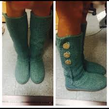 s green ugg boots 42 ugg shoes sold hp ugg boots green knitted from