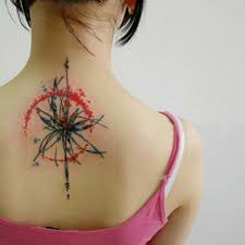 geometric watercolor tattoo abstract back tattoo on tattoochief com