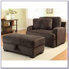 Oversized Armchair With Ottoman Comfy Oversized Chair With Ottoman Chairs Home Design Ideas