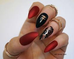 red matte stiletto nails black stiletto nails nail art nail