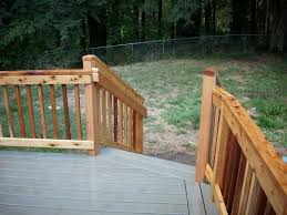 tamko elements cape cod grey composite deck w cedar railing