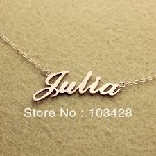 name necklace stores images Freeshipping nameplate necklace julia style rose gold color over jpg