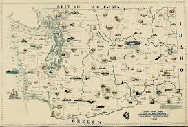 map of washington industrial map of the state of washington c1937