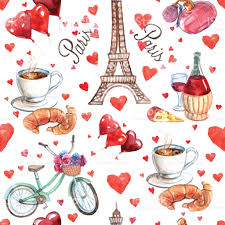 eiffel tower wrapping paper seamless souvenir wrap paper pattern stock vector