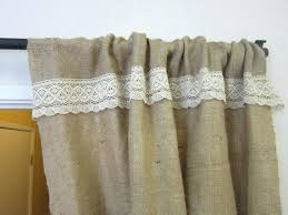 Country Chic Shower Curtains Burlap And Lace Curtains No Sew Burlap And Lace Curtains Lace