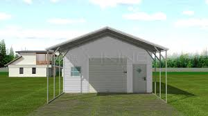 Garage With Carport 20x36 Steel Carport With Storage