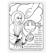 mary coloring hail mary prayer printed color