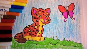 dora the explorer u0026 diego go baby jaguar coloring pages for kids