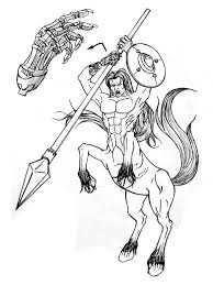centaur coloring pages getcoloringpages com