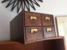 Reclaimed Wood File Cabinet Rolling Wood File Cabinet File Crate Office Furniture Portable