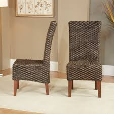 dining room brown rattan wicker dining chairs for modern dining