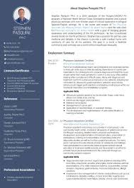 examples of resumes for medical assistant use visualcv to create a stunning physician assistant resume the here is a sample of my current pa cv resume created with visualcv