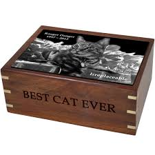pet urns for cats wooden box cat urn large with photo tile