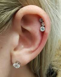 diamond cartilage piercing 59 funky ear piercings for a nonconformist look
