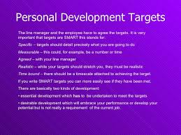 personal development plan u0026 targets