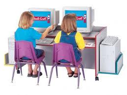 Kid Computer Desk Kydz Computer Desk Rainbow Accents