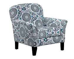 Teal Accent Chair Paisley Chair In Blues Grays And Teal Sancho Pacific Accent