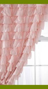 Pink Ruffle Blackout Curtains Pink Ruffle Curtains 96 Nucleus Home