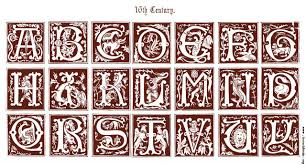 16th century ornamental alphabets ancient and mediæval 1879 a