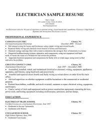 Electrician Job Resume by Electrician Resume Template Apprentice Electrician Job Description