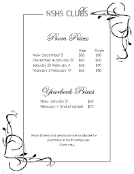 yearbook prices nshsportal nshs prom and yearbook prices