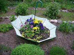 Different Garden Ideas Colorful Backyard Decorating Ideas With Umbrellas And Flowers