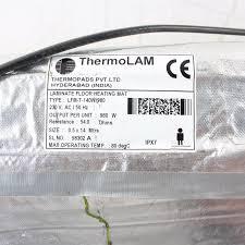Radiant Floor Heating Under Laminate Thermolam Thermopads Laminate Floor Heating Mat Lfm T 140w 980w