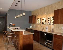 Kitchens Conrtemporary Kitchen With Modern Bar Stools And Wood Bar Table Also Wood Kitchen Cabinet