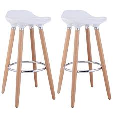32 Inch Bar Stool Aingoo 32 Inch Bar Stool Dinning Chair Natural Wood Legs And Abs