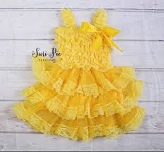 yellow easter dress flower dress 1st birthday dress tutu