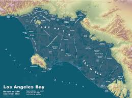 Map Of Los Angeles Airports Los Atlantis What Los Angeles Would Look Like If All The Ice Caps
