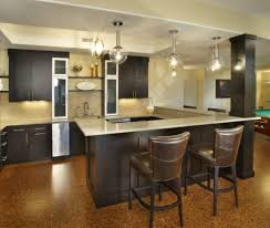 modern u shaped kitchen kitchen simple shelf between dark top cabinet and nice backsplash