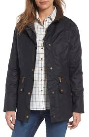 barbour barrowdale waxed cotton coat nordstrom
