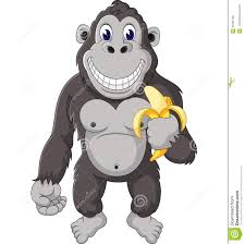 image gallery of cartoon gorilla with banana
