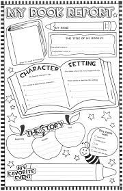 book report forms free printable book report forms for 1st grade