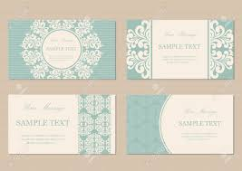 Invitation Cards Business Floral Vintage Business Or Invitation Cards Royalty Free Cliparts