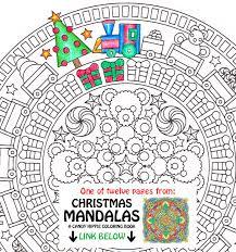 christmas mandala coloring christmas morning
