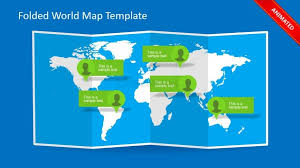 world map callout powerpoint slide design slidemodel