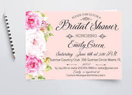 bridal brunch shower invitations bridal shower invitation pink printable peony bridal