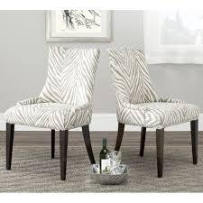Zebra Dining Chairs Safavieh Parsons Dining Becca Zebra Grey Dining Chair Free