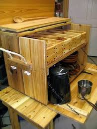Portable Camping Kitchen Organizer - yack box yet another camp kitchen camping and camp trailers
