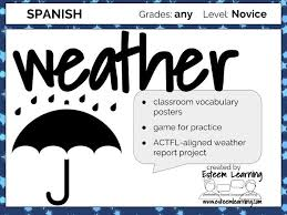 weather practice spanish by contact esteem learning teaching
