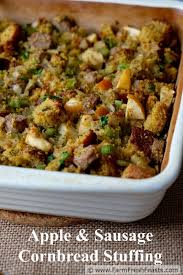 apple turkey recipes thanksgiving farm fresh feasts apple and sausage cornbread stuffing