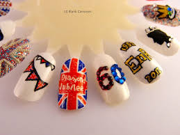 British Flag Nails Jubilee Nails U2013 Take 2 10 Blank Canvases